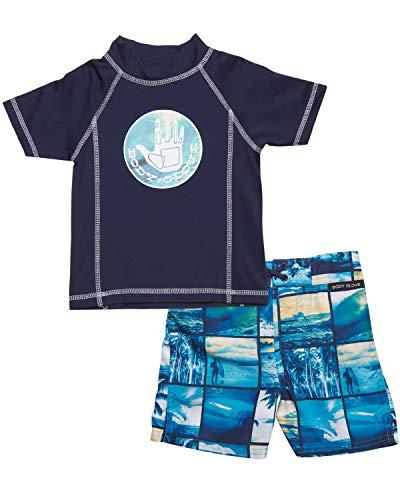 Body Glove Little Boys 2-Piece Rash Guard Swimsuit Set, Navy Beach, Size 2T' ()
