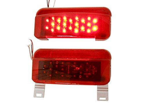 Gizmo Supply LED RV Camper Trailer Stop Turn Brake Tail Lights / License Light / White Base