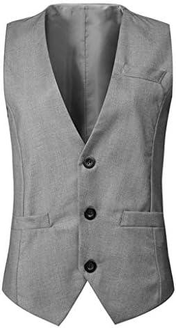 QIQIDEDIAN 釣りベスト ベストシーズンファッション無地スリムスーツベストベストメンズカジュアル毎日シングルブレストジャケット汎用性の高い (Size : XL)