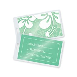 7 Mil Luggage Tag Laminating Pouches w/Slot 2-1/2\