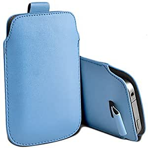 CeeMart PU LEATHER PULL TAB POUCH SKIN CASE FOR iPhone 5 Navy by ruishername