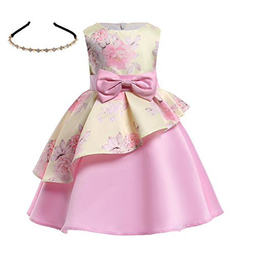 AiMiNa Girls Dress Ball Gown Party Wedding Special Princess Dresses with Accessories Age of 3-10 Years