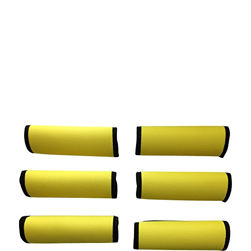 luggage-spotters-super-grabber-neoprene-handle-wrap-set-of-6-yellow