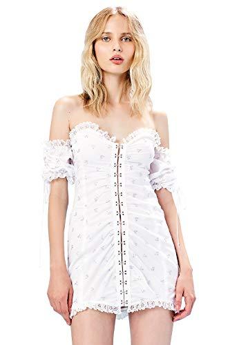 For Love & Lemons Women's Magnolia Mini Dress, White, Extra Small ()