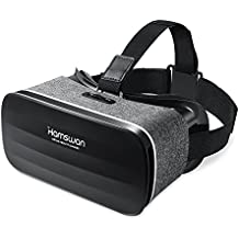 3D VR Headset, HAMSWAN 3D VR Glasses Virtual Reality Headset for 3D Movies and Games - Light Weight VR Goggles Compatible with iOS, Android and Other Phones within 4.0-6.0 Inch