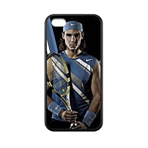 Popular Famous Professional Tennis Player-Rafael Nadal Image Design for TPU Apple Iphone 5c Case (black)