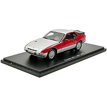 Porsche 924 Turbo , silver/red, 1979, Model Car, Ready-made, Spark 1:43