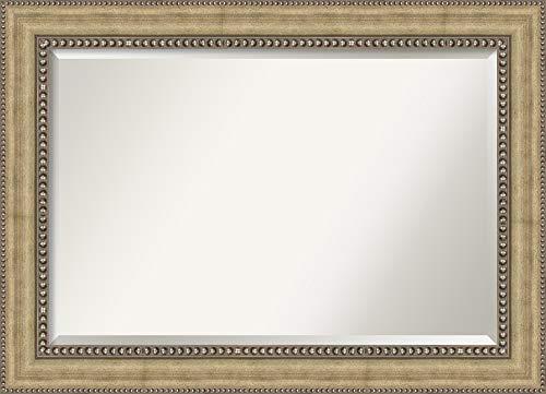 Cabinet Framed Mirror Beaded - Amanti Art Bathroom Mirror Extra Large, Fits Standard 30