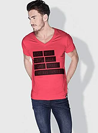 Creo Kiss Funny T-Shirts For Men - Xl, Pink