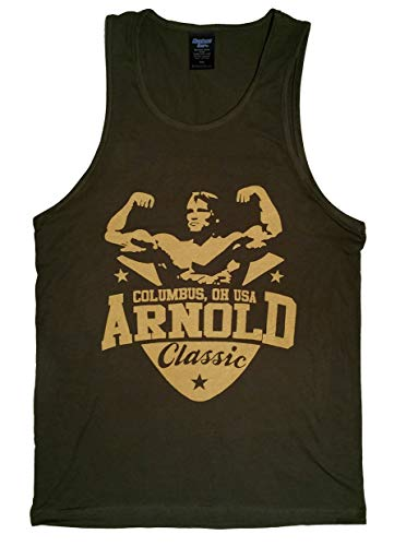 Arnold Schwarzenegger Classic Men's Stringer Tank Top (Large, Heavy Metal)