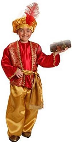 El Rey del Carnaval Disfraz de PAJE Real Rojo para Niño: Amazon.es ...
