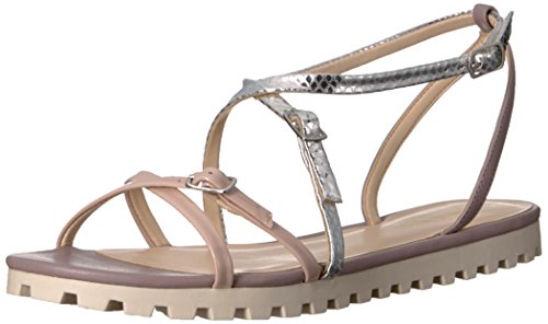 Women's West Metallic Nine Gladiator Snake Sandal Silver Sharri waqff5x6