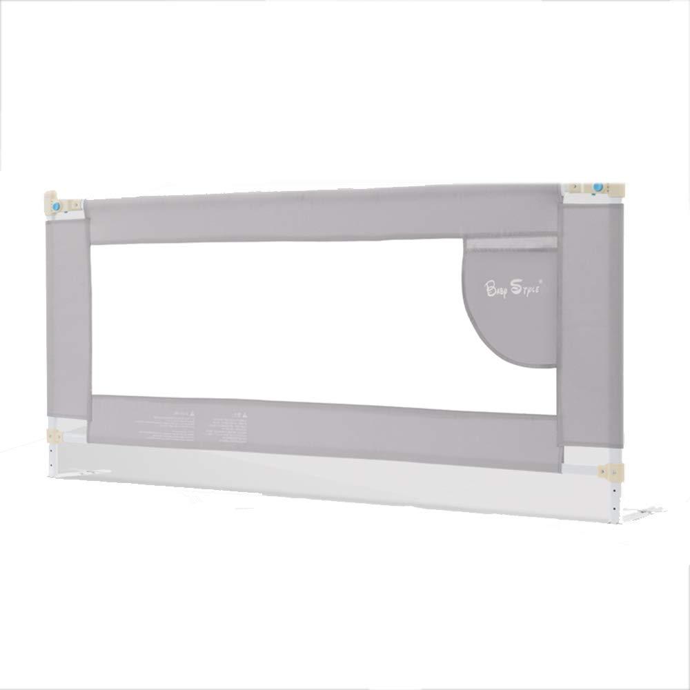 LHA ベッドガードフェンス ベッドフェンスベビーシャッター抵抗フェンスベッドサイドのテーブルを怖がっていない垂直リフティングミュートダブルボタンデザイン (サイズ さいず : L-200cm) L-200cm  B07M59VSNQ