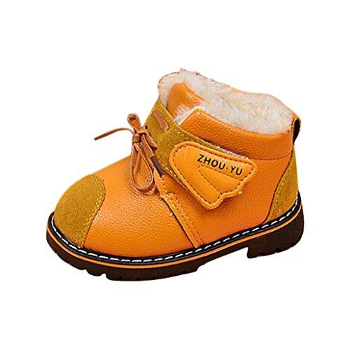 Baby Schuhe Clode® Säuglings kleinkind Baby Mädchen Jungen warme Schuh Winter Schnee Aufladungen lederne Schuhe Gelb