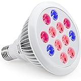 TaoTronics Led Grow light Bulb , Grow Plant Light for Hydropoics Greenhouse Organic ( E27 12w 3 Bands)