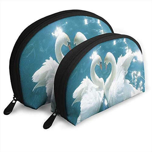 Makeup Bag Love Birds Water Duck Portable Shell Cosmetic Bags Case For Women