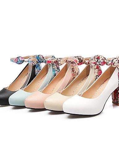 GGX/Damen Schuhe Chunky Heel Heels/Basic Pumpe/, Round Toe Heels Büro & Karriere/Party & Abend/Kleid white-us5.5 / eu36 / uk3.5 / cn35