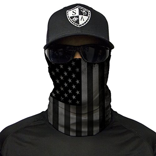 S A CO Official BLACKOUT AMERICAN FLAG Face Shield, Perfect