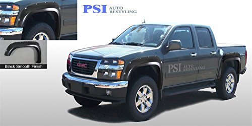 PSI Auto Restyling 802-0106 Pocket-N-Bolt Style Fender Flares; Front And Rear; Flare Width 5.5 in.; Tire Coverage 2.5 in; Smooth Black