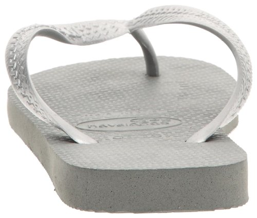 Havaianas Top Logo Metallic Silver Chanclas, mujer Multicolor (Grey/Silver 0982)