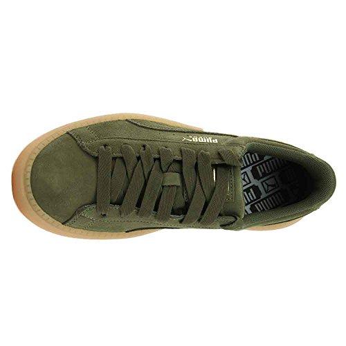 Night Suede Olive Trace Platform Women's Sneakers PUMA YSqTv