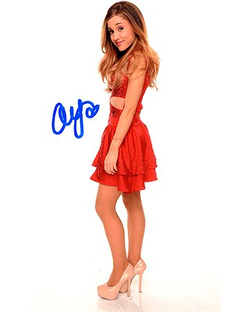 Ariana Grande 8x10 Female Celebrity Photo Signed In Person At