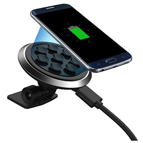 Creazy Qi Wireless Car Charger Transmitter Holder Fast Charging For For Samsung S7 Edge by Creazydog