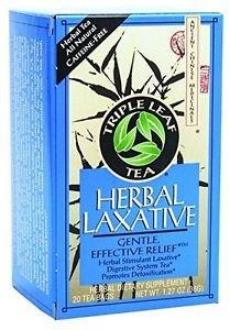 Herbal Laxative Stimulant (Triple Leaf Tea Herbal Laxative 20 Bag (6 Pack))