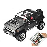 Microgear EC10419-Black Hummer i-Spy RC Tank With Camera App-Controlled for iPhone iPad
