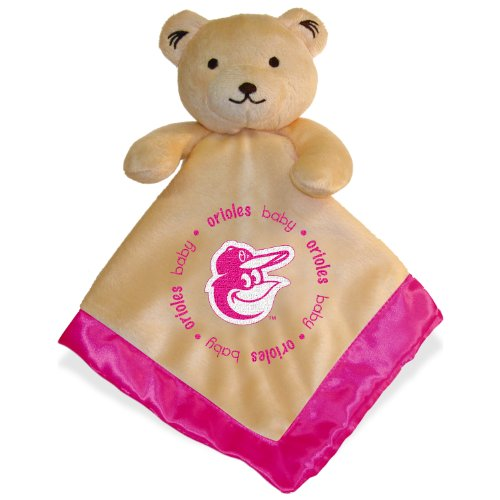 Baltimore Orioles Pink Baby Security Snuggle Bear Blanket - 14
