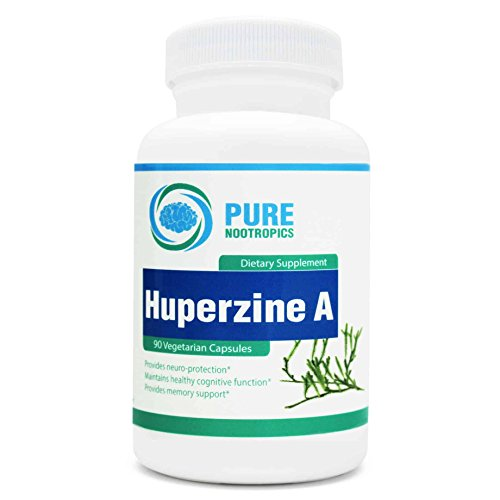 Huperzine A 200 mcg – Increase Focus, Memory, Learning – Protect Brain Health & Slow Cognitive Decline from Aging – 90 Vegetarian Capsules – Pure Nootropics