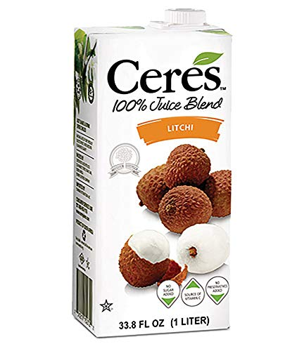 - Ceres 100% All Natural Pure Fruit Juice Blend | Gluten Free | Rich in Vitamin C | No Sugar or Preservatives Added, 33.8 FL OZ, Litchi (Pack of 3)