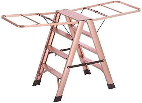 NYDZDM Taburete De Aluminio Escalera Interior Escalera Plegable Plegable Colgador Piso para Colgar Taburete De Paso De Doble Uso (Color : Silver, Size : 50 * 85 * 98CM): Amazon.es: Hogar