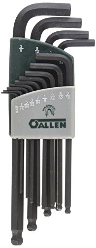 Allen 56601G 13-Key SAE Magnetic Ball-Plus Hex Key Set