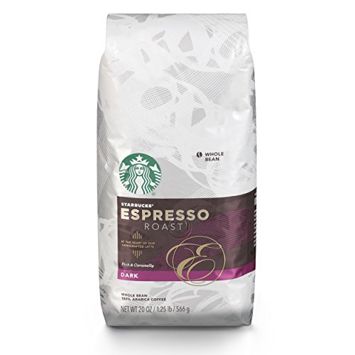 Starbucks Espresso Dark Roast Chiefly Bean Coffee, 20-Ounce Bag