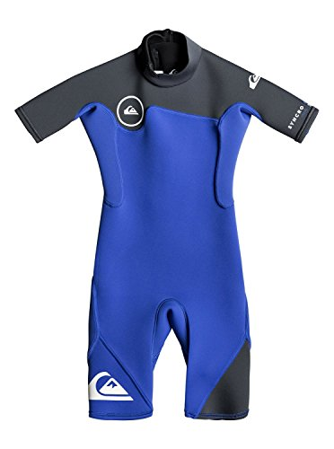 2mm Short Sleeve Boys Wetsuit (Quiksilver Boys 2/2Mm Syncro Series - Short Sleeve Back Zip Flt Springsuit Short Sleeve Back Zip Flt Springsuit Purple 6)