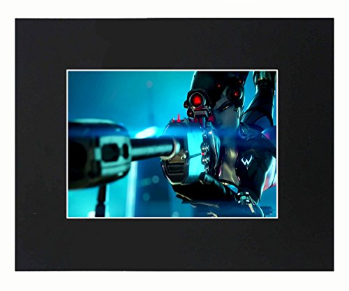 (Overwatch Widowmaker Game Sexy 8x10 Black Matted Art Artworks Print Paintings Printed Picture Photograph Poster Gift Wall Decor Display)