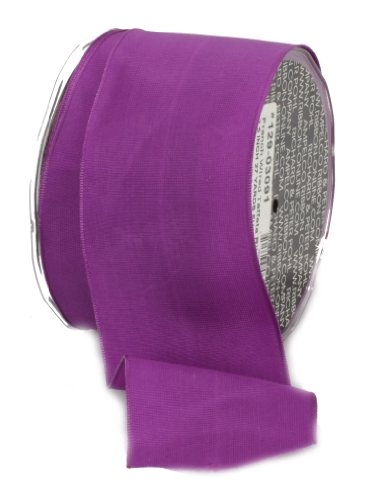 Ampelco Ribbon Company French Wired 27-Yard Taffeta Ribbon, 2.5-Inch, Purple