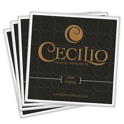 Cecilio 4 Packs of Stainless Steel 4/4 - 3/4 Violin Strings Set (Total 16 Strings)