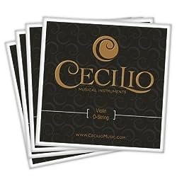 Cecilio Full Set High Quality Violin Strings Size 4/4 & 3/4 Violin Strings, G D A & E (1 Set)