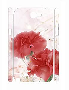 Funky Design Lovely Rose Bloom Handmade Samsung Galaxy Note 2 N7100 Hard Case Cover