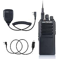 NKTECH U-25W UHF 400-480MHz 25W 10W 5W 10Km Range Two Way Radio Ham Transceiver Walkie Talkie With 37CM Antenna 4000mAh Battery + Speaker Mic + Programming Cable