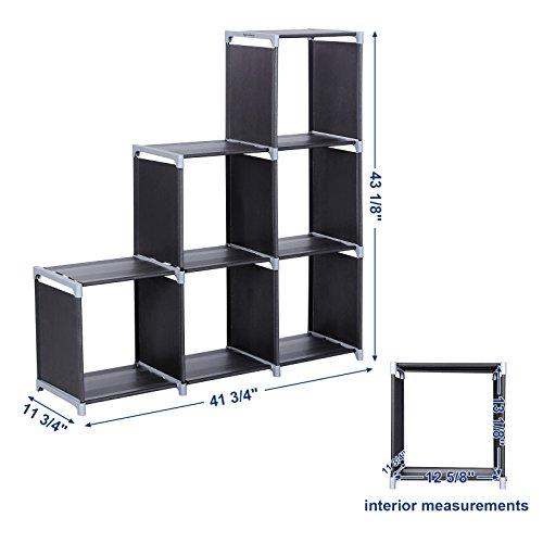 Songmics 3 Tier Storage Cube Closet Organizer Shelf 6 Cube