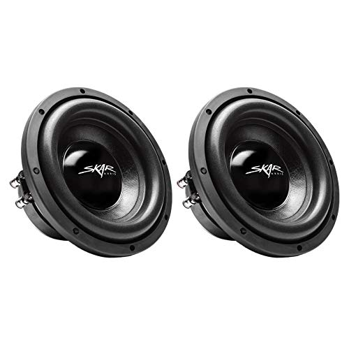 (2) Skar Audio IX-8 D2 8″ 300W Max Power Dual 2 Ohm Car Subwoofers, Pair of 2