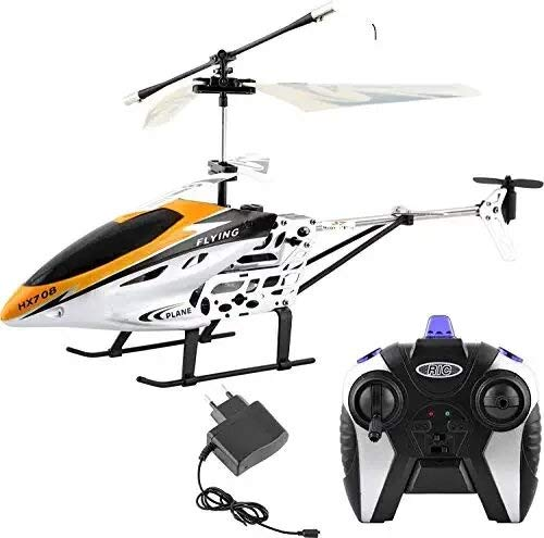 Madhavkunj HX-708 Original Radio Remote Controlled Helicopter with Unbreakable Blades – Multicolour