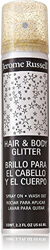 Jerome Russell Hair and Body Glitter Spray, Gold 2.2 oz (Pack of 6) by Jerome Russell