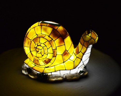 Solar Lighted Snail Accent Light -- Landscape Ornament Product SKU: SO10245 by PSW - Solar Accent Light