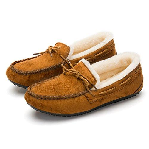 Optimal Womens Winter Casual Slip on Suede Flat Shoes Yellow JMk9MkSupv