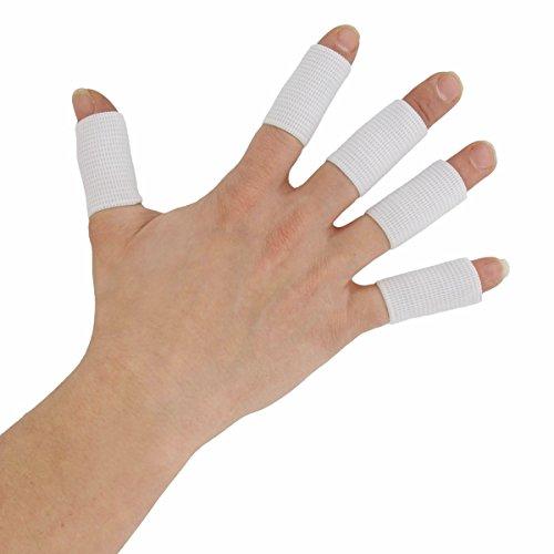 Oramics Sport Fingerbandagen Set 10 Stk zur Entlastung der Fingergelenke Weiss
