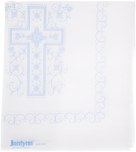 Janlynn Stamped Cross Stitch Kit Quilt Blocks, (Dresser Scarf Stamped Cross Stitch)